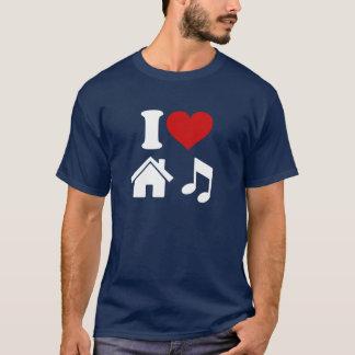 Jag älskar husmusikT-tröja Tshirts