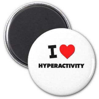Jag älskar Hyperactivity Magneter För Kylskåp