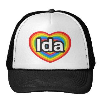 Jag älskar Ida. Jag älskar dig Ida. Hjärta Keps