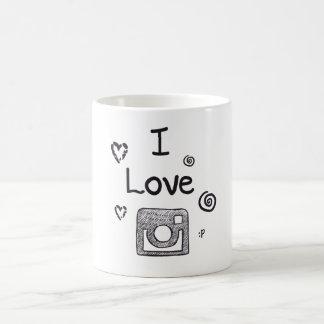 jag älskar instagram kaffemugg