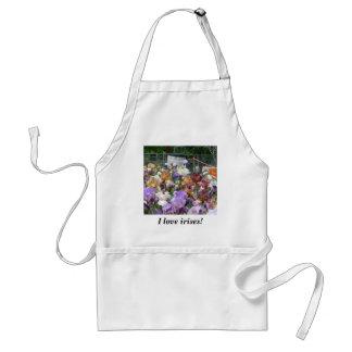 Jag älskar irises! förkläde