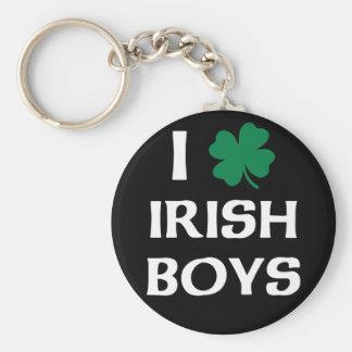 Jag älskar irländska pojkar rund nyckelring