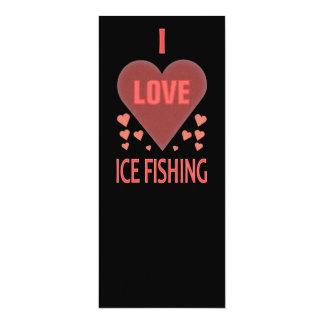 Jag älskar isfiske 10,2 x 23,5 cm inbjudningskort