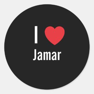 Jag älskar Jamar Rund Klistermärke