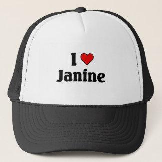 Jag älskar janine truckerkeps