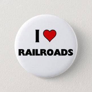 Jag älskar järnvägar standard knapp rund 5.7 cm