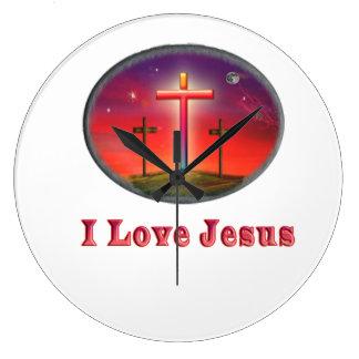 Jag älskar Jesus gåvor Stor Klocka