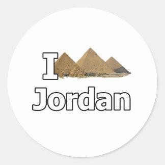 Jag älskar jordan den turist- kuggningen runt klistermärke