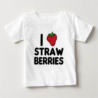 Jag älskar jordgubbar t-shirts