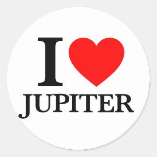 Jag älskar Jupiter Runt Klistermärke