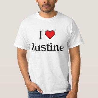 Jag älskar Justine T Shirts