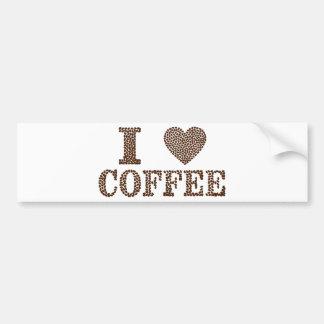 Jag älskar kaffe bildekal