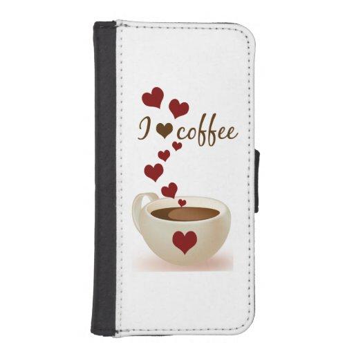 Jag älskar kaffe plånboksskydd för mobilen