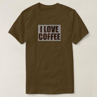 Jag älskar kaffe t shirt