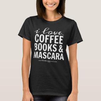 Jag älskar kaffebokar & Mascara Tee Shirt
