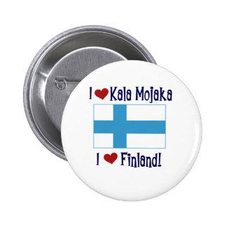 Jag älskar Kala Mojaka som jag älskar Finland Knappar Med Nål
