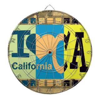 Jag älskar Kalifornien - popkonstvintage Darttavla