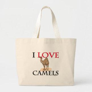 Jag älskar kamel jumbo tygkasse
