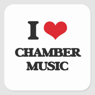 Jag älskar kammarmusik fyrkantigt klistermärke