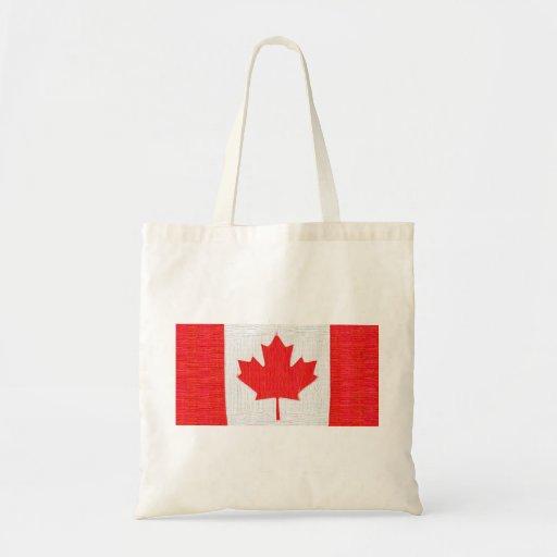 Jag älskar Kanada! Den kanadensiska flagga syr Loo Tote Bag