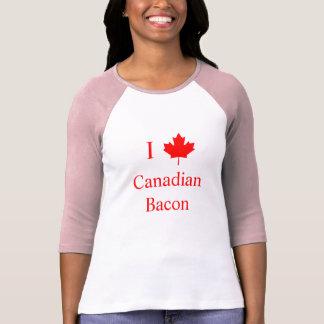 Jag älskar kanadensisk bacon tee shirts