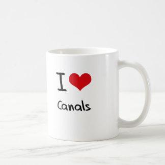 Jag älskar kanaler kaffemugg
