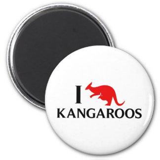 Jag älskar kängurur magnet