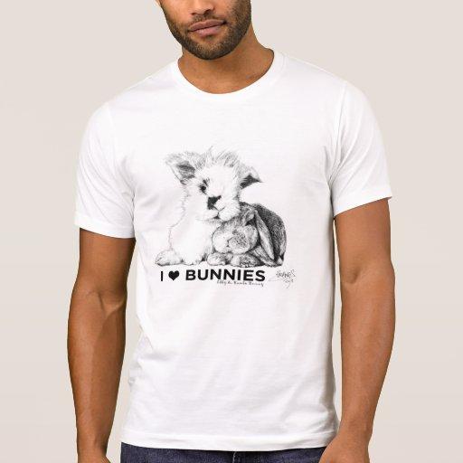 Jag älskar kaniner t shirts
