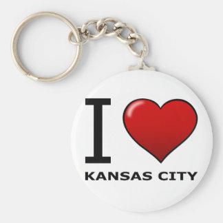JAG ÄLSKAR KANSAS CITY, MO - Missouri Rund Nyckelring