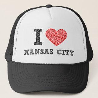 Jag älskar Kansas City Truckerkeps