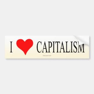 Jag älskar kapitalism bildekal