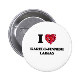Jag älskar Karelo-Finskan Laikas Standard Knapp Rund 5.7 Cm