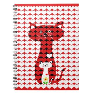 Jag älskar katter 2 anteckningsbok med spiral