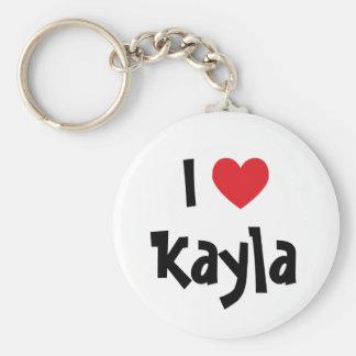 Jag älskar Kayla Keychain Rund Nyckelring