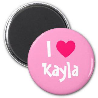 Jag älskar Kayla Magnet Rund 5.7 Cm