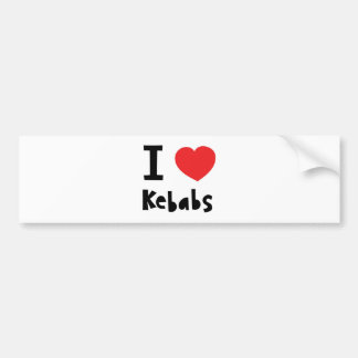 Jag älskar Kebabs Bildekal