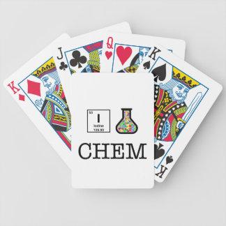 Jag älskar kemi spelkort