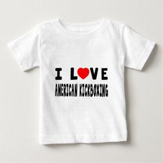 Jag älskar kickboxing kampsportar för amerikanen t shirt