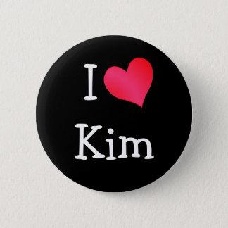 Jag älskar Kim Standard Knapp Rund 5.7 Cm