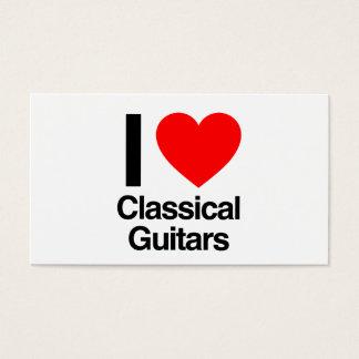 jag älskar klassiska gitarrer visitkort