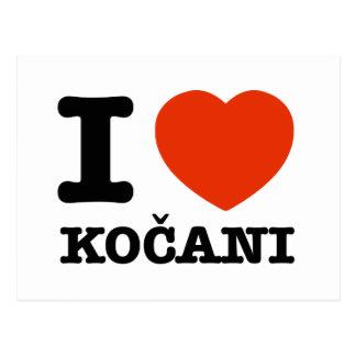 Jag älskar Kocani Vykort