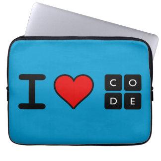 Jag älskar kodifierar laptop fodral