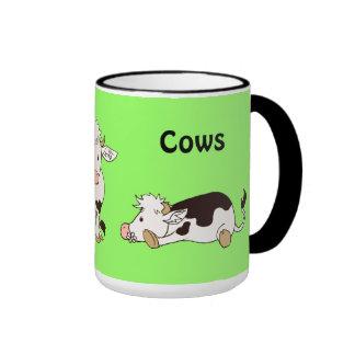 Jag älskar kor kaffe koppar