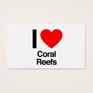 jag älskar korallrevar visitkort