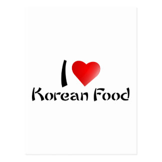 JAG ÄLSKAR KOREANSK MAT VYKORT