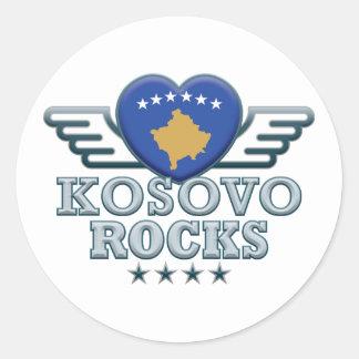 Jag älskar Kosovo. Runt Klistermärke