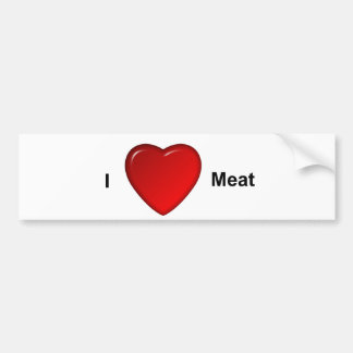Jag älskar kött bildekal