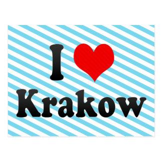 Jag älskar Krakow, Polen Vykort
