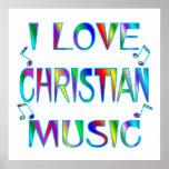 Jag älskar kristen affisch