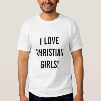 Jag älskar kristna flickor! tröjor